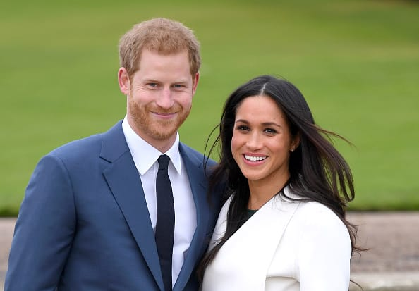 A modern love story: Harry and Meghan on the day they announced their engagement in November last year (Getty Images)