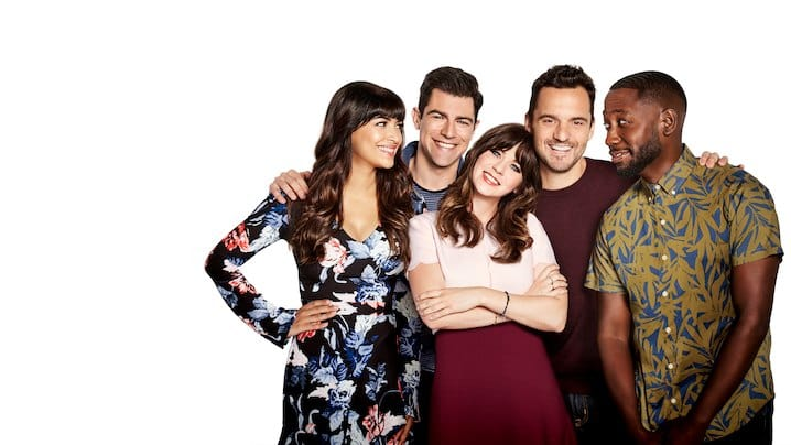 The cast of New Girl together (Facebook)