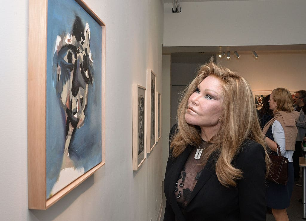 Jocelyn Wildenstein attends the Jean-Yves Klein: Chimeras Exhibition at Gallery Molly Krom on October 8, 2015 in New York City. (Photo by Grant Lamos IV/Getty Images)