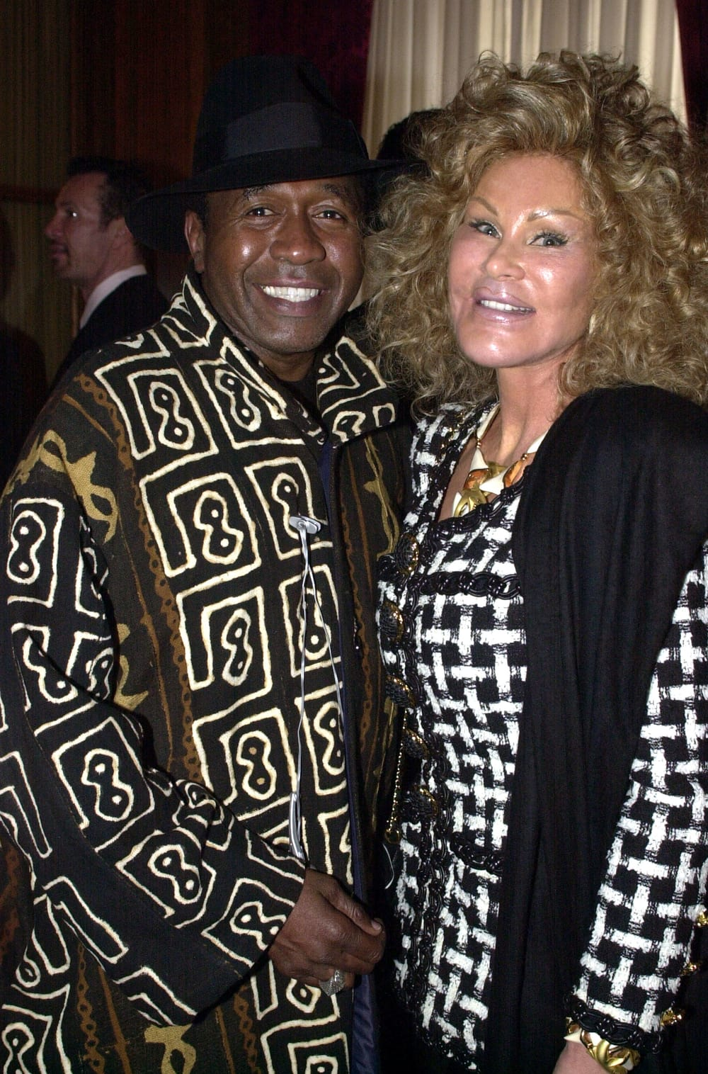 Actor Ben Vereen and Jocelyne Wildenstein arrive for the Helen Yarmak fashion show May 20, 2002 at the Russian Embassy in New York City. (Photo by Keith D. Bedford/Getty Images)