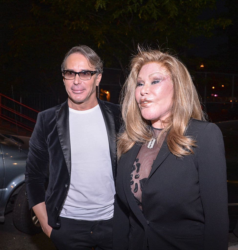 Lloyd Klein and Jocelyn Wildenstein attend the Jean-Yves Klein: Chimeras Exhibition at Gallery Molly Krom on October 8, 2015 in New York City. (Photo by Grant Lamos IV/Getty Images)