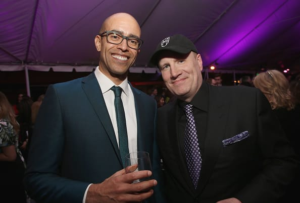 Executive producer Nate Moore (L) and Marvel Studios President Kevin Feige (Getty)