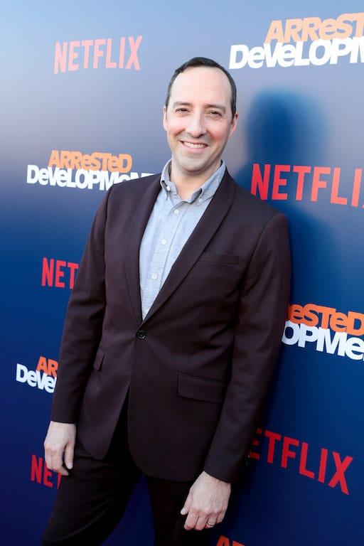 Tony Hale arrives at the premiere of season 5 of Arrested Development.