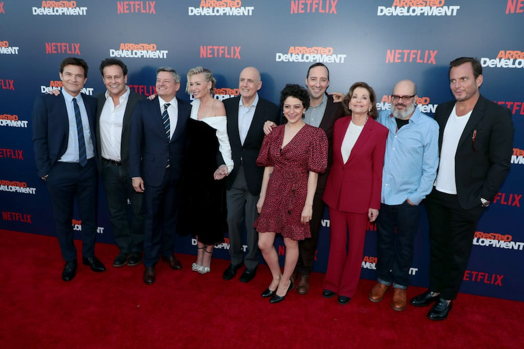 The cast and crew of the show at the premiere.