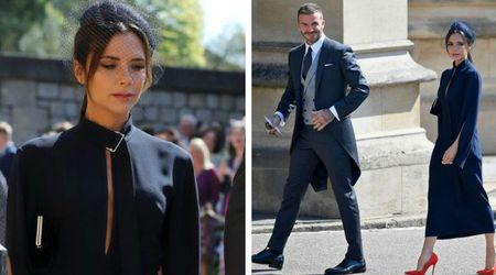 Victoria Beckham blasted for wearing 'funeral dress' to royal wedding, and what's with the miserable face?