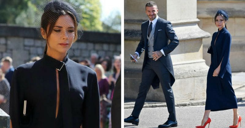 Victoria Beckham Blasted For Wearing Funeral Dress To Royal