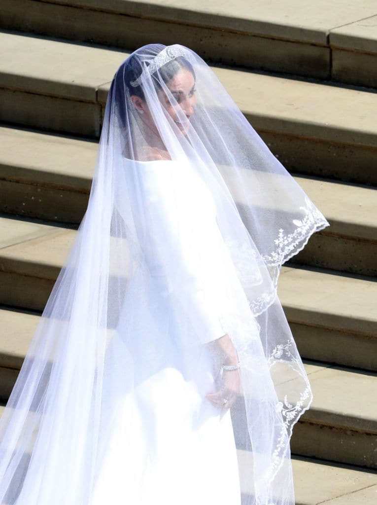 The veil represented the union of Commonwealth countries(Photo by Andrew Matthews - WPA Pool/Getty Images)