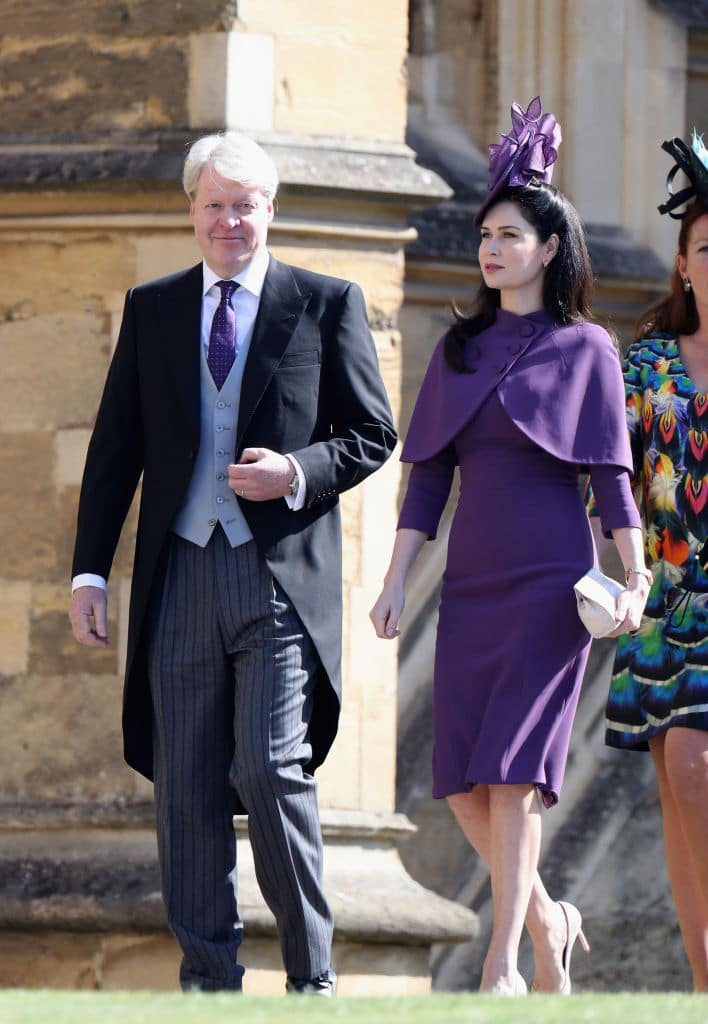 Charles Spencer and his wife Kate arrive at the chapel (Getty Images)