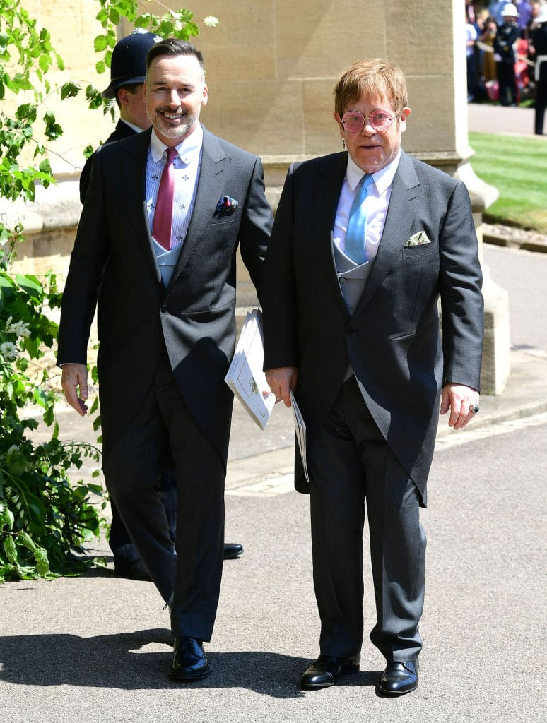 Elton performed when the royal couple were at their lunchtime reception (GettyImages)