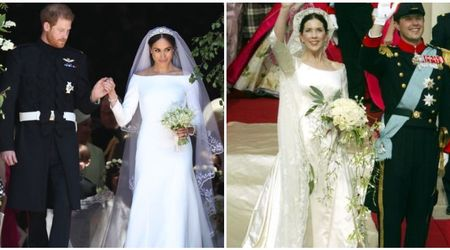 "Meghan Markle accused of copying Danish princess's wedding dress style with ""familiar gown"""