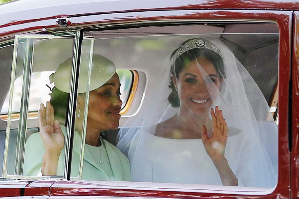 Although Meghan's father was a no-show at the wedding due to his own foolishness and a sudden health complication, her mother, Doria Ragland was present at the ceremony in Windsor. (Source: Getty images)