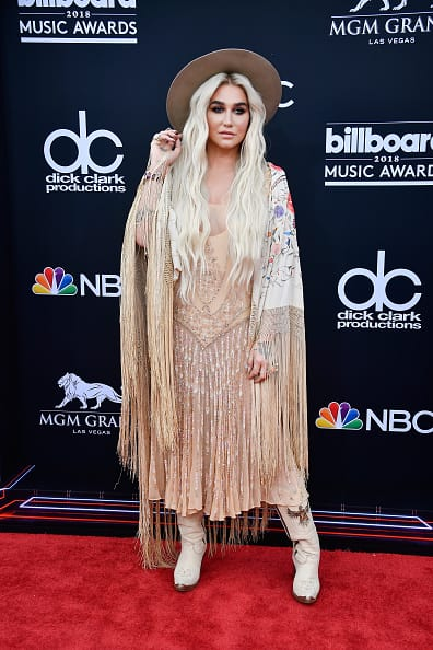 Recording artist Kesha attends the 2018 Billboard Music Awards at MGM Grand Garden Arena on May 20, 2018 in Las Vegas, Nevada. (Photo by Frazer Harrison/Getty Images)