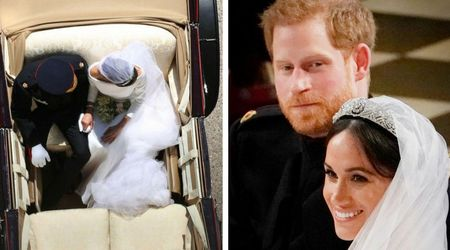 This exquisite overhead carriage shot of the royal couple has everyone going wild