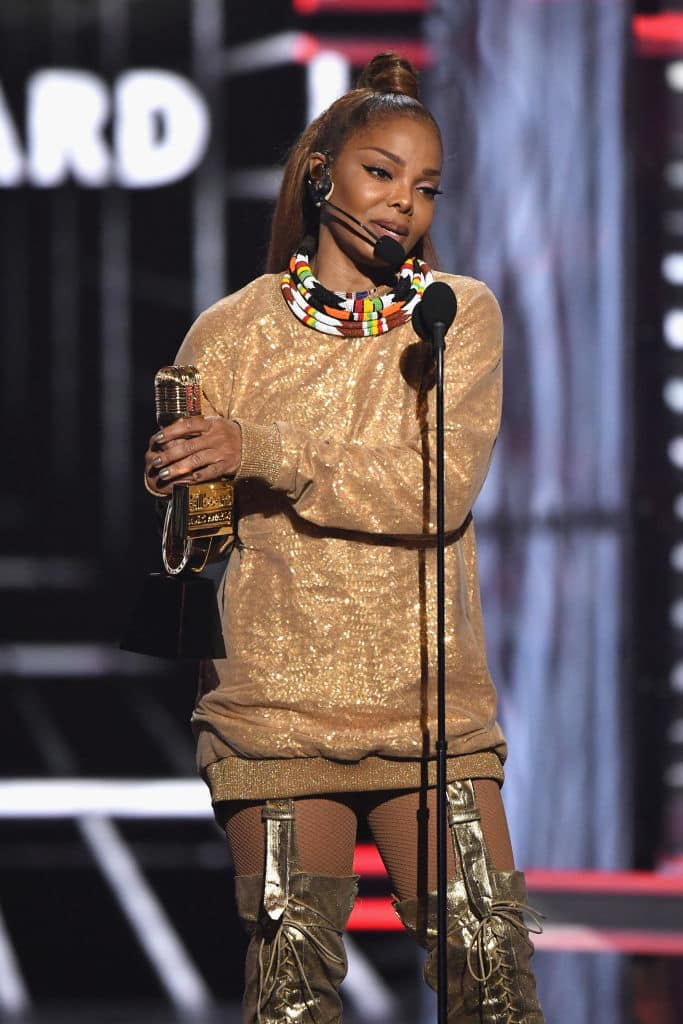 Janet received the Iconic award (Photo by Ethan Miller/Getty Images)