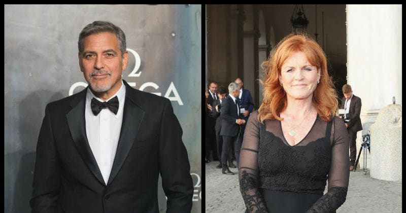 George Clooney, who got to sway with Meghan and Kate, was turned down by Sarah Ferguson at the royal reception