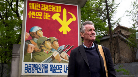 Monty Python's Michael Palin has wrapped up filming a world-exclusive documentary series in North Korea