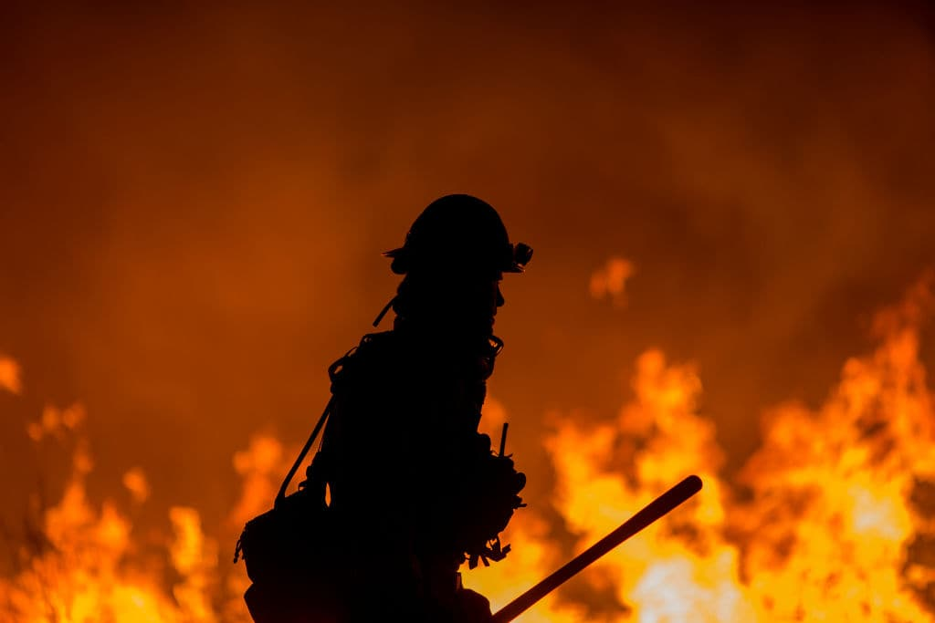 The fire started by the teenager burned at least 75 square miles of the area. (Getty Images)