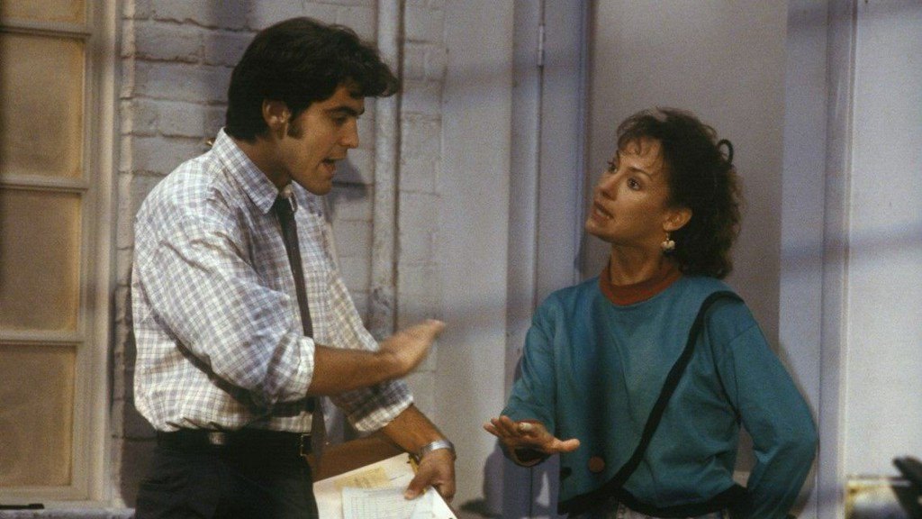 George Clooney and Laura Metcalf on 'Roseanne' (Twitter)