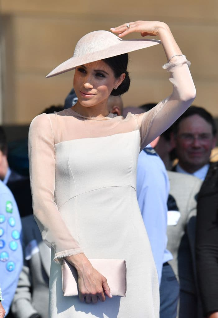 Meghan Markle at Buckingham Palace on May 22, 2018 in London (Photo by Dominic Lipinski - Pool/Getty Images)