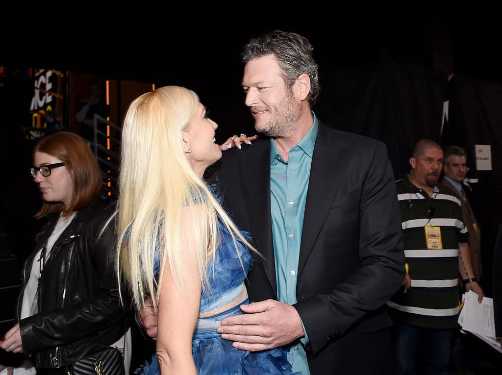 Gwen Stefani with Blake Shelton (Getty Images)