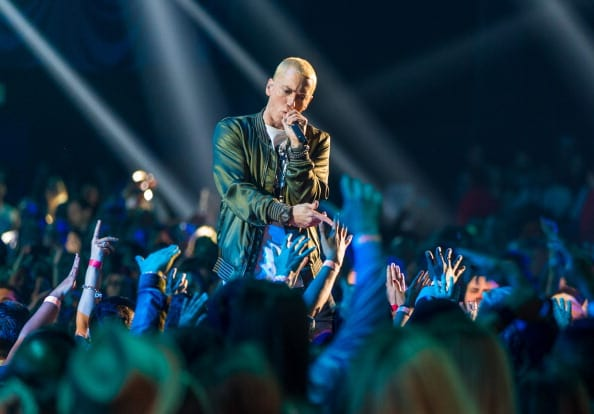 Eminem said in December 2017 that he was looking for love again after 10 years of being divorced from is high school sweetheart Kimberly Anne Scott(Getty Images)
