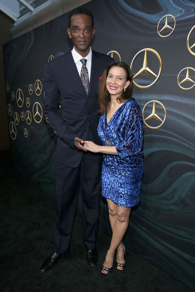 Sampson with his fiancé Patrice Ablack (Getty Images)