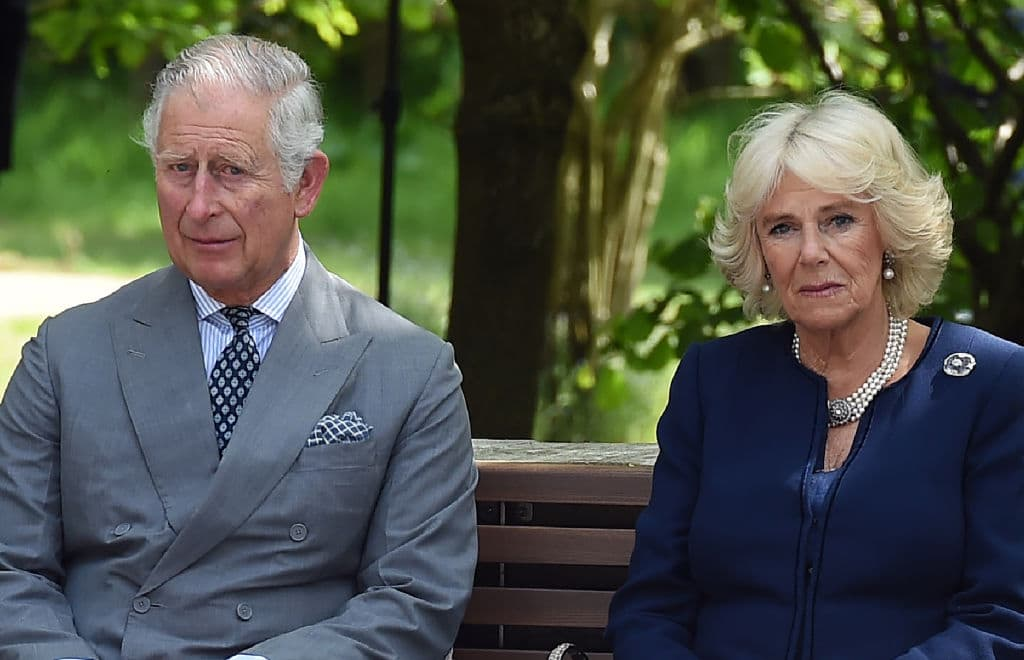 Prince Charles, Prince of Wales and Camilla, Duchess of Cornwall attend the dedication service for the National Memorial to British Victims of Overseas Terrorism at the National Memorial Arboretum on May 17, 2018 in Alrewas, England (Photo by Paul Ellis - WPA Pool/Getty Images)