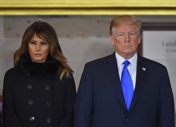Melania and Donald Trump attend Billy Graham's memorial service in Washington DC. (Source: Getty Images)