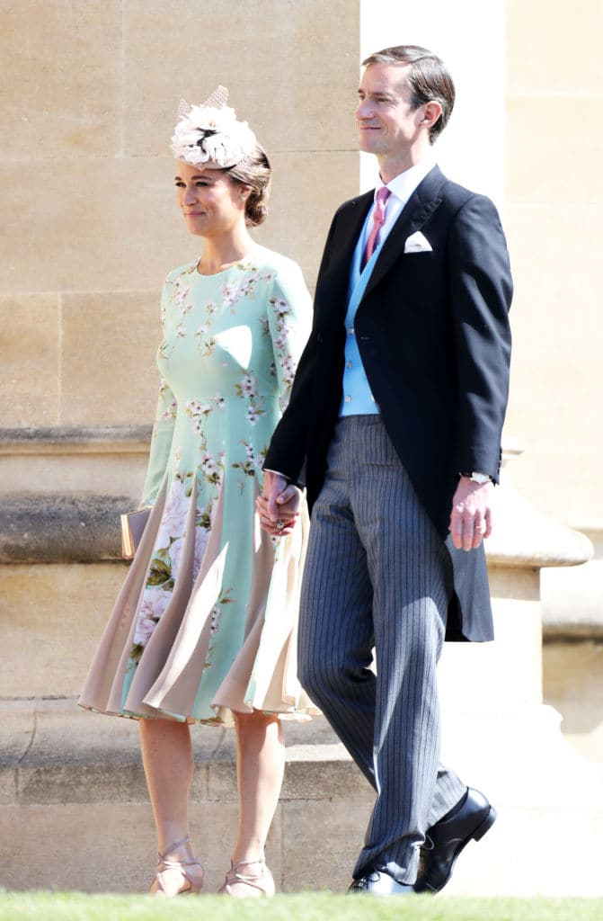 Pippa Middleton with husband James Matthews at the wedding of Prince Harry and Meghan Markle at St George's Chapel, Windsor Castle on May 19, 2018 in Windsor, England. (Photo by Chris Jackson/Getty Images)