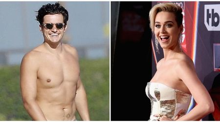 Orlando Bloom prances around in his birthday suit as Katy Perry applauds from the audience