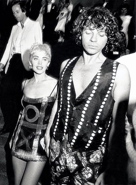 Kylie Minogue and Michael Hutchence circa '90-91. Kylie Minogue leaves the Australian premiere of her new film, 'The delinquents' with INXS lead singer Michael Hutchence. (Getty Images)