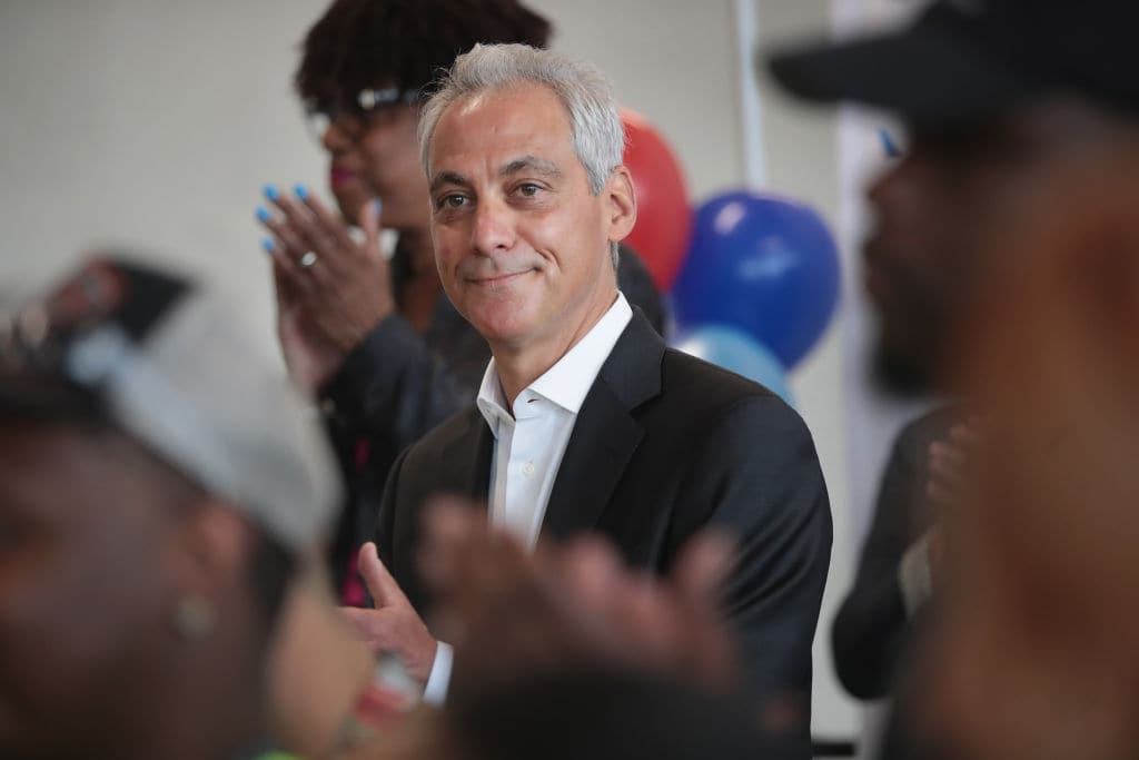 Chicago Mayor Rahm Emanuel attends a ceremony to mark the opening of five new gates at O'Hare International Airport on May 11, 2018, in Chicago, Illinois. (Photo by Scott Olson/Getty Images)
