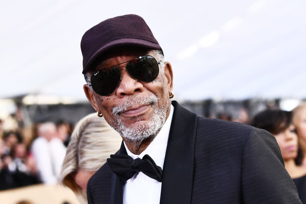 Morgan Freeman at the 24th Annual Screen Actors Guild Awards. (Photo by Emma McIntyre/Getty Images for Turner)