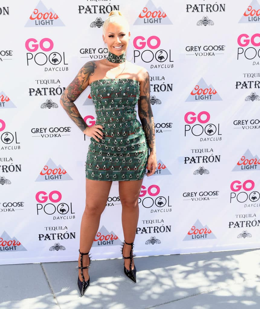 Amber Rose took three years to decide if she should have a breast reduction (Photo by Bryan Steffy/Getty Images)