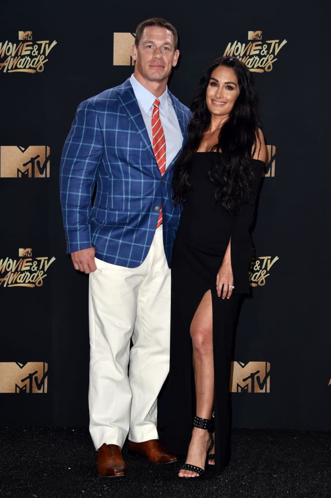 Nikki and John are back together  (Photo by Alberto E. Rodriguez/Getty Images)