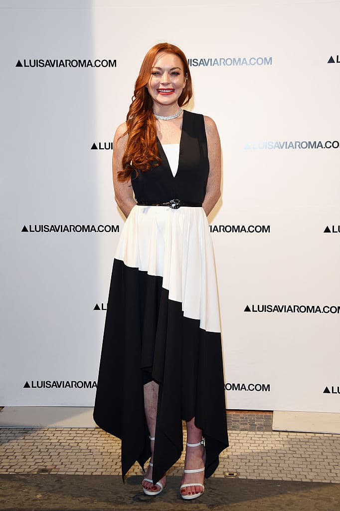 Lindsay Lohan walks the red carpet of Firenze4ever 14th Edition Party hosted by LuisaViaRoma on January 9, 2017 in Florence, Italy. (Photo by Stefania D'Alessandro/Getty Images for LuisaViaRoma)