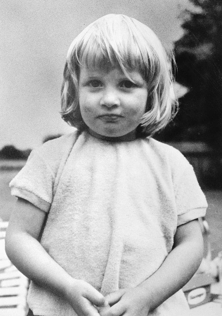Diana, 3, at Park House, Sandringham (Getty Images)