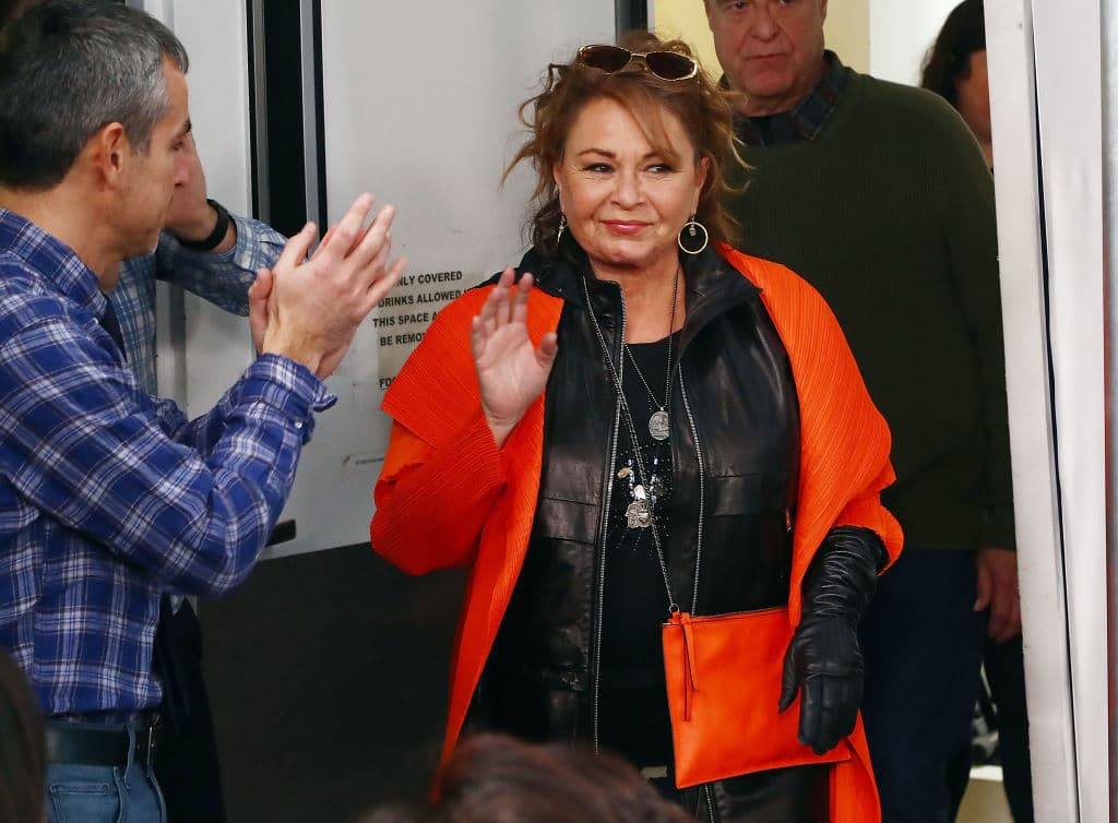 Actress Roseanne Barr speaks during SiriusXM's Town Hall with the cast of Roseanne on March 27, 2018 in New York City. (Getty Images)