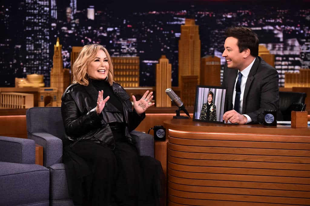 Roseanne Barr Visits 'The Tonight Show Starring Jimmy Fallon' on April 30, 2018 in New York City. (Getty Images)