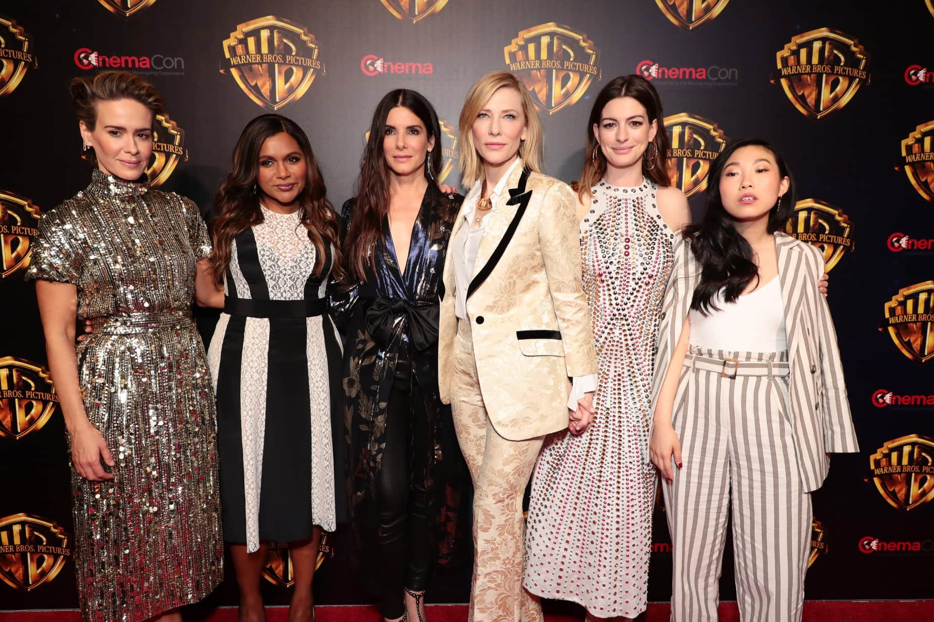 Sarah Paulson, Mindy Kaling, Sandra Bullock, Cate Blanchett, Anne Hathaway and Akwafina make for six of the eight leading stars of 'Ocean's 8' (Facebook)