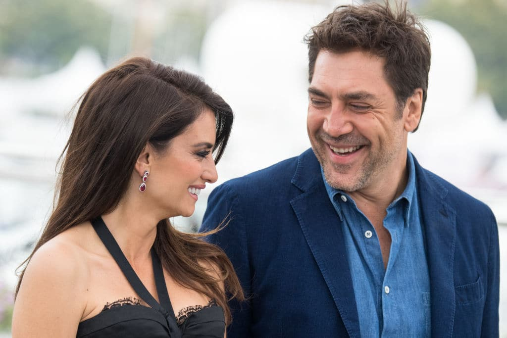 Penelope Cruz, wearing jewels by Atelier Swarovski Fine Jewelry, and Javier Bardem attend the photocall for 'Everybody Knows (Todos Lo Saben)' during the 71st annual Cannes Film Festival at Palais des Festivals on May 9, 2018 in Cannes, France. (Photo by Emma McIntyre/Getty Images)