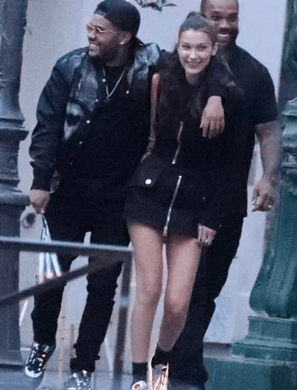The Weeknd and Bella Hadid (Source: Twitter)