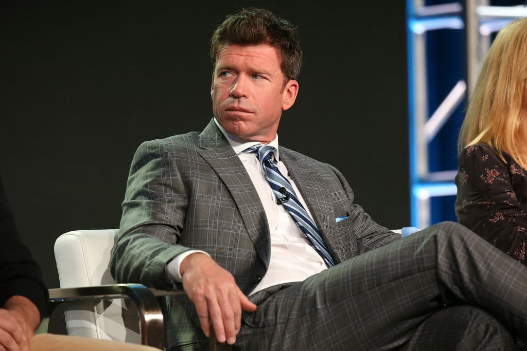 Producer/writer Taylor Sheridan of 'Yellowstone' speaks onstage during the Paramount Network portion of the 2018 Winter TCA on January 15, 2018, in Pasadena, California. (Photo by Phillip Faraone/Getty Images for Viacom)