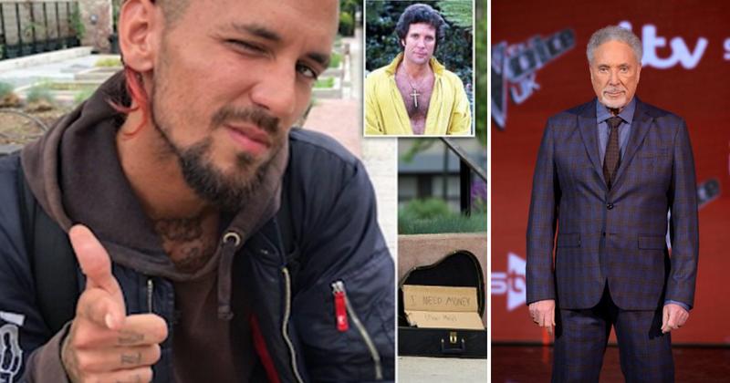 Tom Jones' homeless son reveals he needs help as he sings in