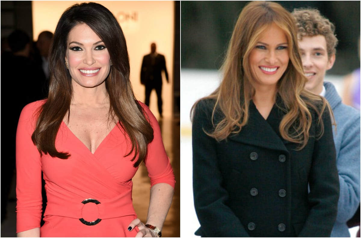 Donald Trump Jr's new girlfriend Kimberly Guilfoyle and his step-mother Melania Trump look eerily similar (Getty Images)