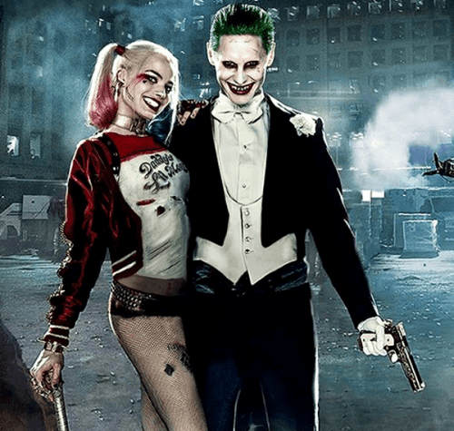 Jared Leto and Margot Robbie as the Joker and Harley Quinn (Cinetop.com)