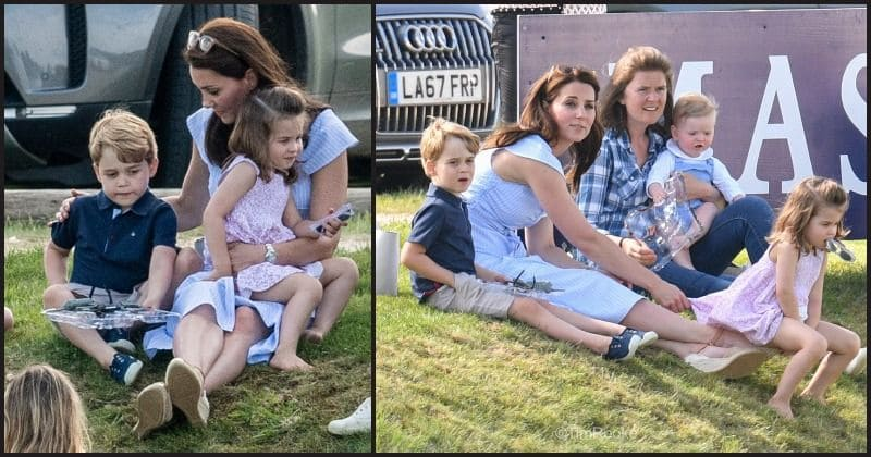 Princess Charlotte Prince George And Kate Middleton Enjoy A Family Outing As They Watch