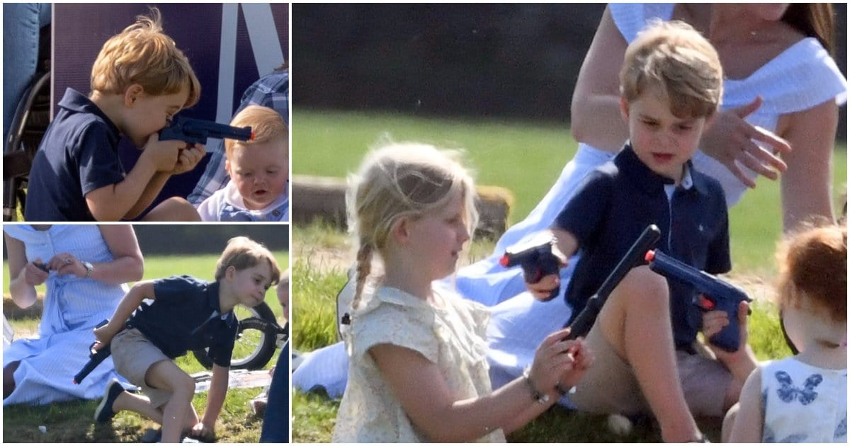 Prince George criticized for playing with a toy gun (Twitter)