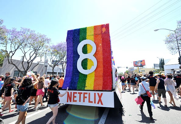 A float for Netflix original series (Getty)