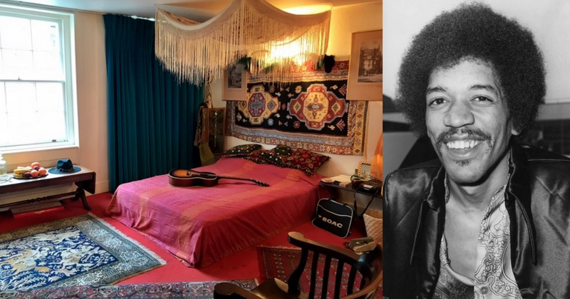 Jimi Hendrix's London flat is now open to visitors